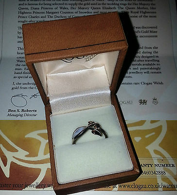CLOGAU GOLD Unity Mother of Pearl Ring Size P