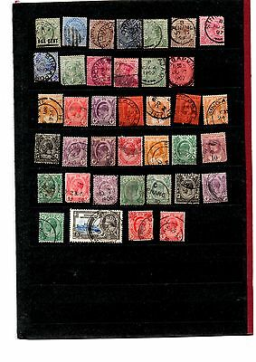Straits Settlements stamps x38 from Queen Victoria(13) to the kings massive cv
