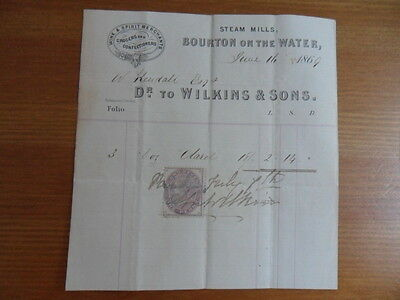 Lovely Old Document dated June 1869 with stamp