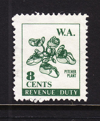 W.A. 8c REVENUE DUTY PITCHER PLANT  USED...