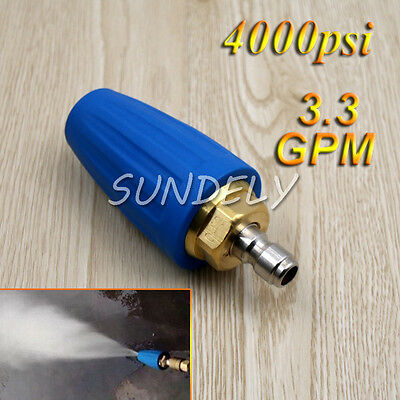 3.3 GPM Washer Turbo Head Nozzle for High Pressure Water Cleaner 4000PSI Blue