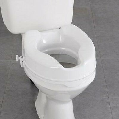 Homecraft Savanah Raised Toilet Seat Fit Onto Most Sizes and Shapes of Toilets