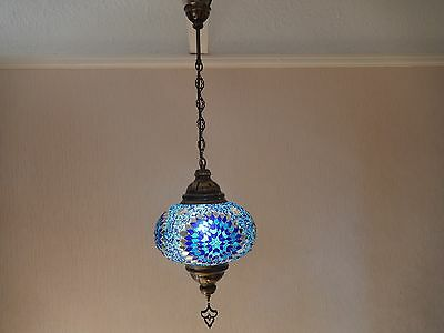 Large Turkish,Morrocan  Hand Made Mosaic Glass ceiling Lamp