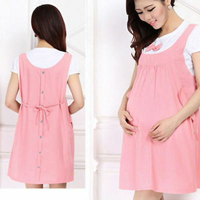 Summer Maternity Dress Clothes For Pregnant Women Pregnancy Dress Denim Clothing