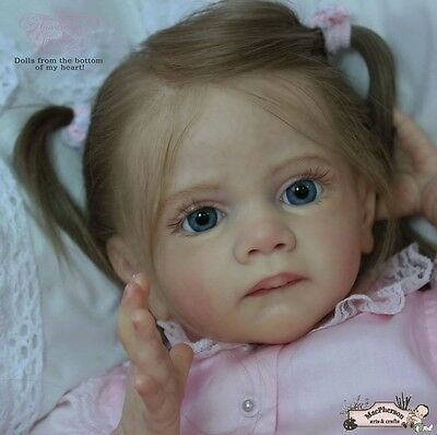 "B807 Lovely Reborn Baby Girl Doll 22"" Child Friendly Tailor Made"