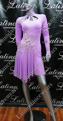 Latin Rhythm Salsa Ballroom Competition Dance Dress - Size S, M, L (Lt861)