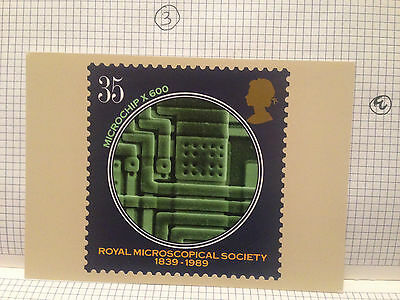 Microchip Royal Microscopical Year 1989 Royal Mail Stamp Picture Phq Postcard