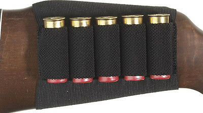 Top selling Shotgun Rifle Black Butt Stock Shell Cartridge Holder 5 Shells