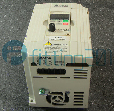 1Pcs Delta VFD022M23B Inverter 220V 2.2KW Tested Used