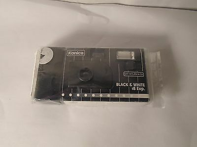 New Factory Sealed Konica Iso400  Black & White 18 Exp. Disposable Camera, Nip