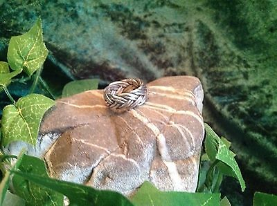 Celtic Blessing Heavy Sterling Silver Twist Band Ring Size M/N