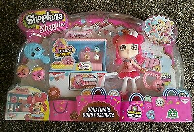 Shopkins Shoppies Donatinas Donut Delights set Brand new in packaging