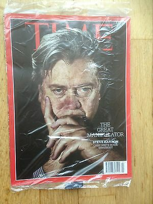 TIME Magazine February 13, 2017  Steve Banon. New In Unopened Wrapper