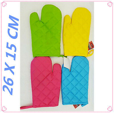 Oven Mit Mitts Glove Color Heat Absorbing Quilted Layers Hanging Tag Kitchen