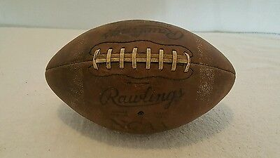 Vintage ~ EMORY & HENRY WASPS ~ NCAA Game Used?? Rawlings ST-5 Football!!!