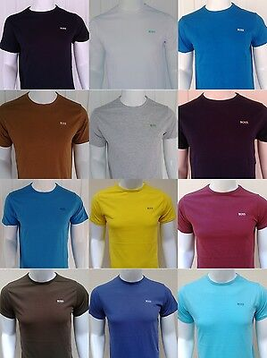 HUGO BOSS Green Label Cotton Short Sleeve Crew Neck Men's Slim Fit T-Shirts