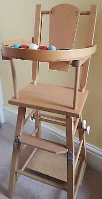 Doll wooden high chair