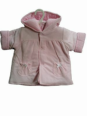 Job Lot Of 3 Baby Girls Padded Jackets Age 6-12 Months By Zip Zap Tagged