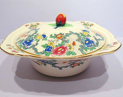 Vintage Royal Cauldon Victoria Lidded Vegetable Tureen