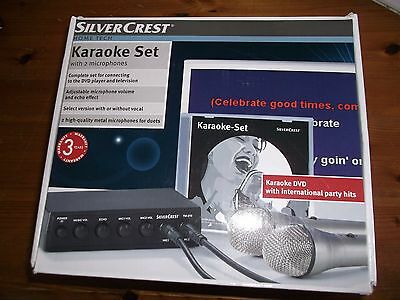 Karaoke set silvercrest complete connects to dvd player and tv 2 microphones
