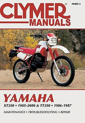 Yamaha XT 350 Trail (Europe) 1985-2000 Manuals - Clymer (Each)