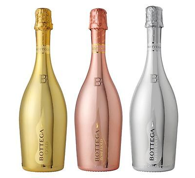 Bottega  Collection of Gold, Rosé Gold and White Gold 3 x 75cl - FREE P&P
