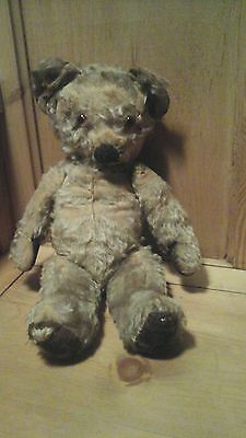 """Antique Teddy Bear ~ Chad Valley ~ 16"""" ~ With Label ~ Lovely Face"""