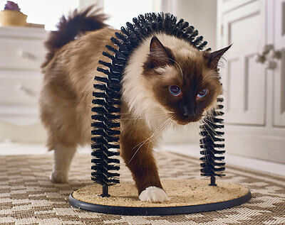 Cat Groomer Massager Arch bristles brush fur grooming - Selling fast!!