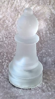 """Replacement Frosted Glass Chess Piece - Bishop  (approx height 2"""" / 5cm)"""