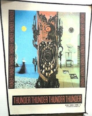 THUNDER 1992  vintage LARGE  sew on back patch backpatch DANNY BOWES  ROCK MUSIC