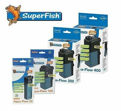 Superfish Aqua-Flow Filter Fish Tank Spray Bar Internal Power Aquarium Media