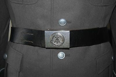 Post WW2 East German Leather Belt and Buckle