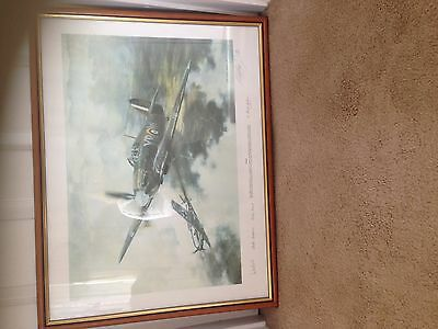 Battle Of Britain Duel Print Signed