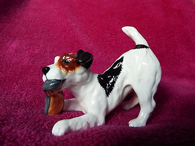 Vintage Royal Doulton Dog Hn 2654 - Jack Russell With Slipper - Gloss