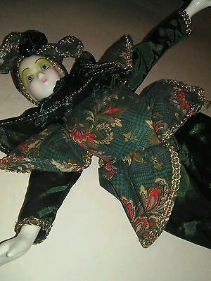"""Collector Doll Green Gables Creation Co. Porcelain 17"""" Musical Doll Hunter Green"""