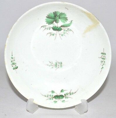 good derby 18th / 19th century porcelain plate dish decorated with flowers