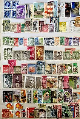 Collection mix of various world stamps 100+