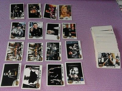 125 Retro Batman Collector Cards and Stickers Topps 1989