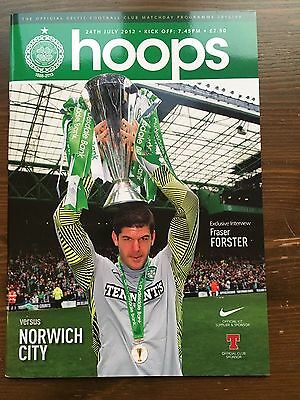 Glasgow Celtic v Norwich City 2012/13 Friendly