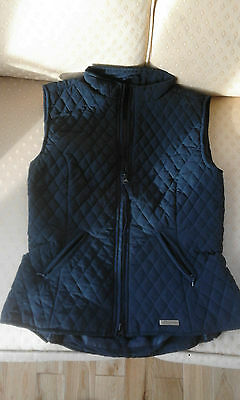 Stunning Shires Childs 10-12 Yrs Blue Quilted Gilet Soft Feel - Worn Once