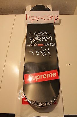 """Authentic Supreme """"The War Repport"""" Skateboard 8.625""""x32.625"""""""