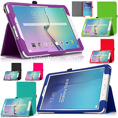 """Leather Magnetic Stand Smart Case For Samsung Galaxy Tab E 9.6"""" SM-T560 SM-T561"""