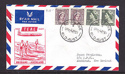 1953 First Teal Flight  Qld To New Zealand