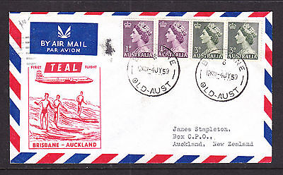 1953 First Teal Flight  Qld To New Zealand.