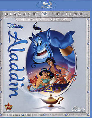 Aladdin (Blu-ray/DVD, 2015, 2-Disc Set, Diamond Edition)NEW: NO DIGITAL CODE