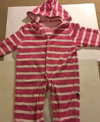 Jojo Maman Bebe Girls Towelling Hooded Robe/beach Cover. 12-18 Months