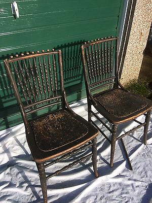 Pair Of Antique Wooden Chairs (19th C?)