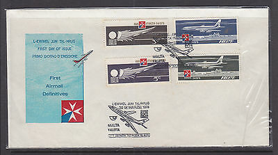 1974 Malta First Airmail Definitives Cover.