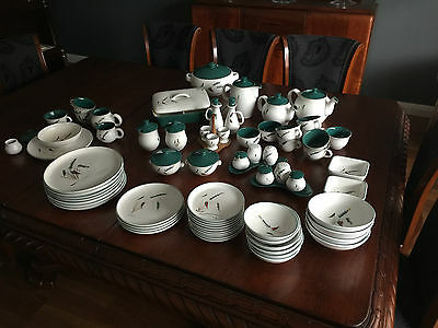 """Retro Denby """"greenwheat"""" Stoneware - Collection Of Assorted Items Of Tableware"""