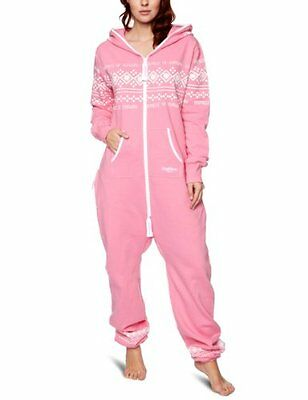 Rosa (Pink/White) (TG. X-Large) OnePiece - Salopette, unisex, Rosa (Pink/White),